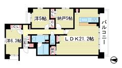 ワコーレ新神戸マスターズレジデンス 1308の間取