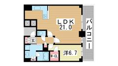 神戸ハーバータワー 22Fの間取