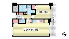プラウドタワー神戸県庁前 1203の間取