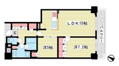 ジ・アーバネックスタワー神戸元町通 24Fの間取
