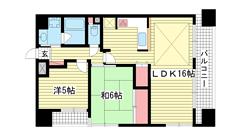 パルメーラ神戸駅前 901の間取