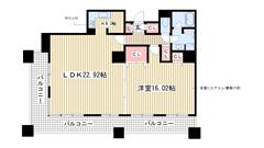 三宮ミュージアムタワー 1303の間取