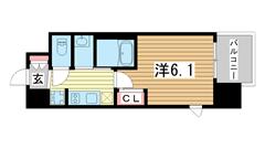 エステムコート三宮EASTⅣザ・フロント 406の間取