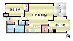 ロイヤル神戸北野通り 602の間取