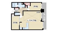 シティタワー神戸三宮 3303の間取