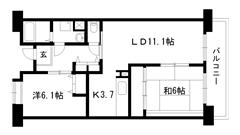 ☆ルゼフィール井吹台1号棟(UR) 1-202の間取