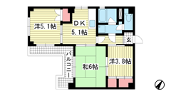 イーデンハイツ神戸 802の間取