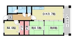 摩耶コート壱番館 305の間取
