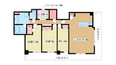 ライオンズタワー神戸元町 2302の間取