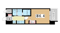 エステムコート神戸ハーバーランド前Ⅶレーベル 1309の間取