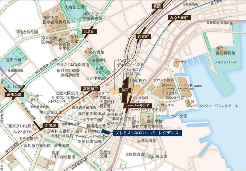 物件番号: 1025867828 プレミスト神戸ハーバーレジデンス  神戸市中央区相生町5丁目 3LDK マンション 画像2